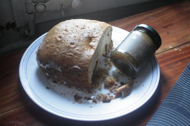 Pastel de limón y mermelada de kiwi hecha en casa